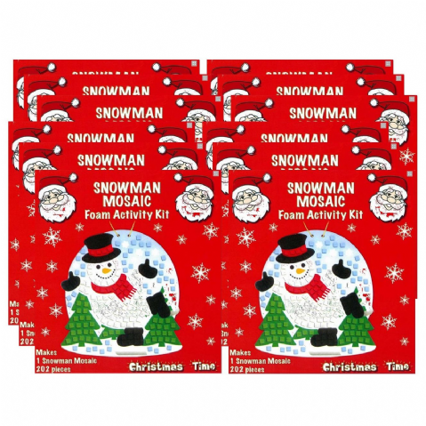 24 x Snowman Mosaic Foam Activity Kit - Christmas Arts & Crafts